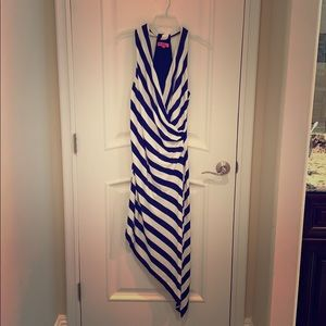 Betsy Johnson, Navy Blue and White Striped Dress
